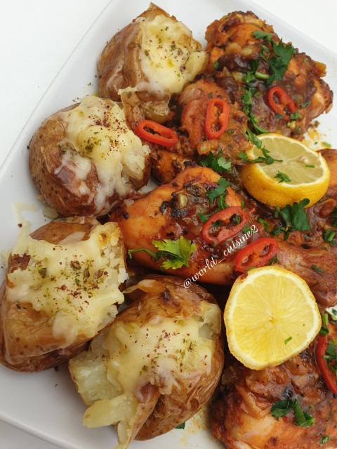 Chicken & Garlic Smash Potatoes