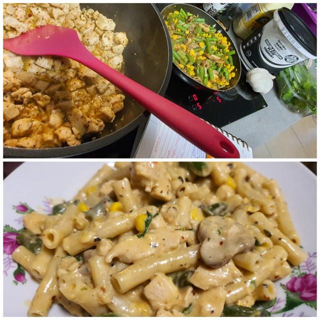 Creamy Chicken & Veg Pasta