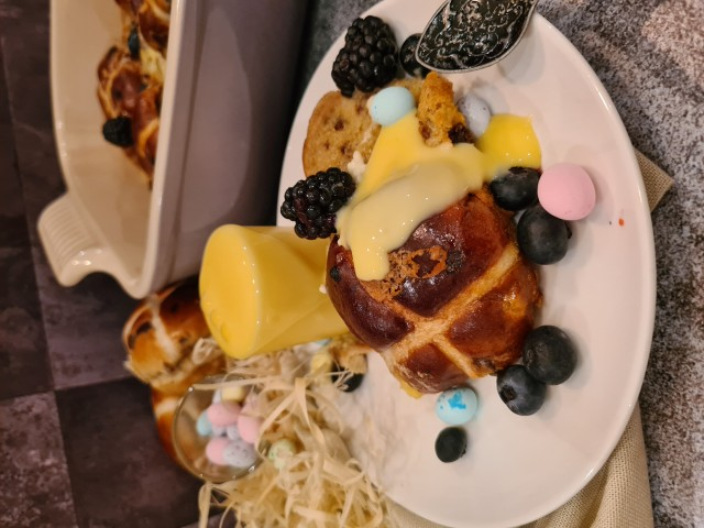 Hot Cross Buns Pudding