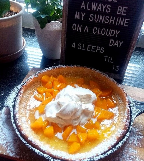 Peaches N Cream Dutch Baby