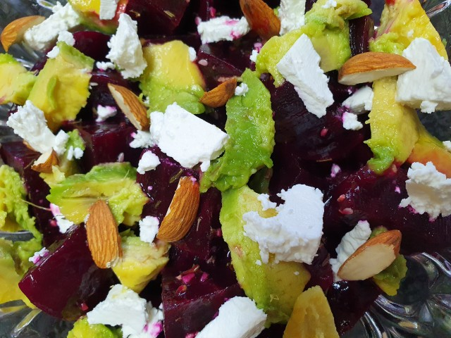 Beetroot, Feta And Avo Salad