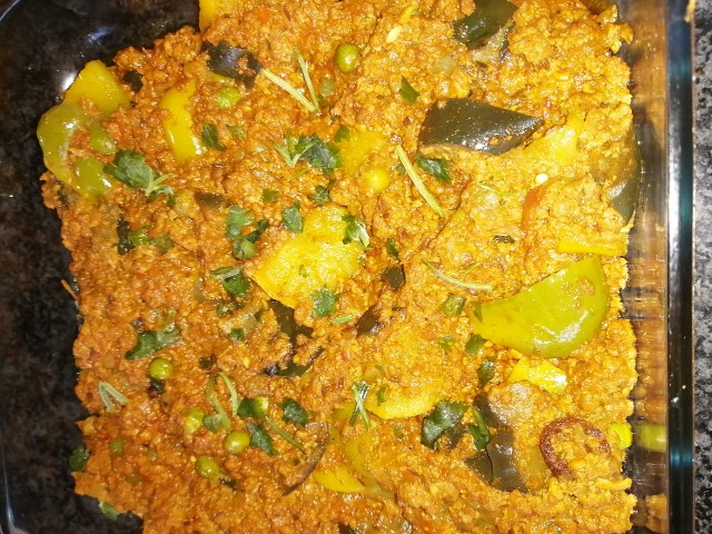 Mince Pepper Brinjal Curry