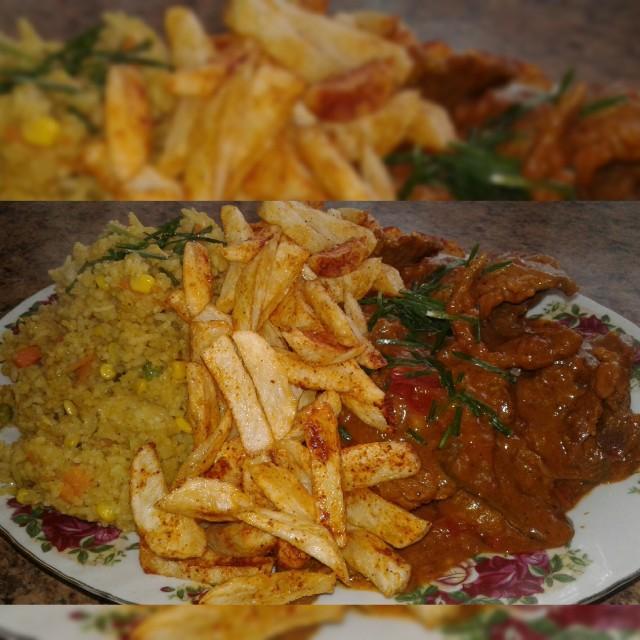 Saucy Steak & Savoury Rice