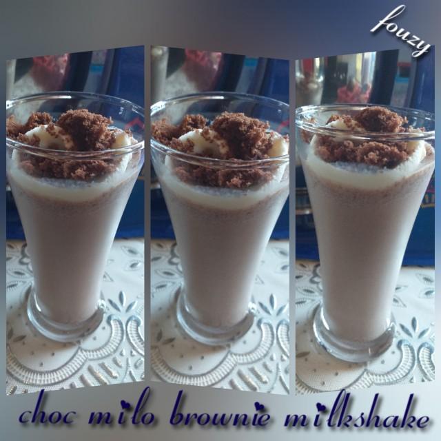 Choc Milo Brownie Milkshake