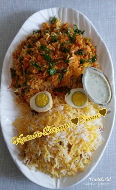 Vegetable Biryani Recipe By Sumayah