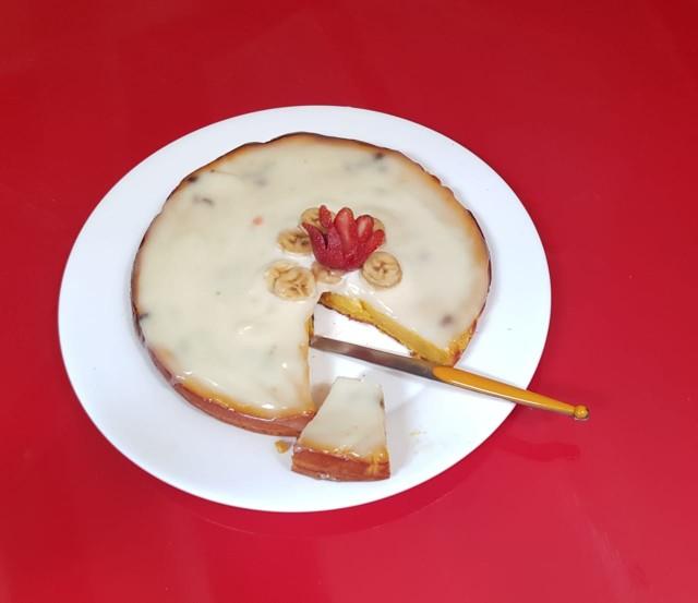 Orange Cake With Sweet Mayonnaise /no Oven Cake Recipe