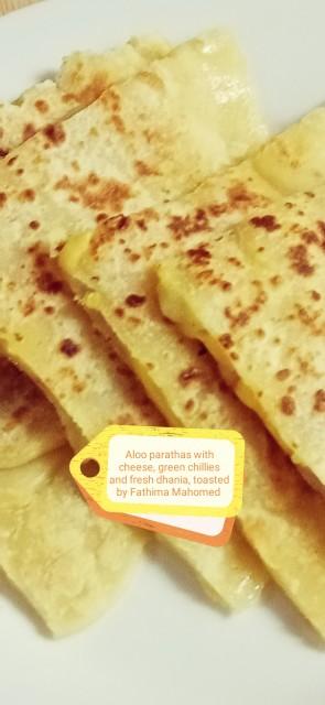 Aloo/cheese Paratha Stuffed