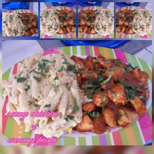 Saucy Chicken N Creamy Pasta