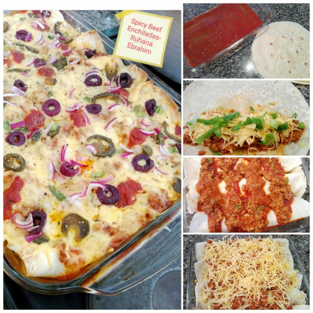 Garlic Beef Enchiladas Recipe: Spicy Beef Enchiladas Recipe By Ruhana Ebrahim