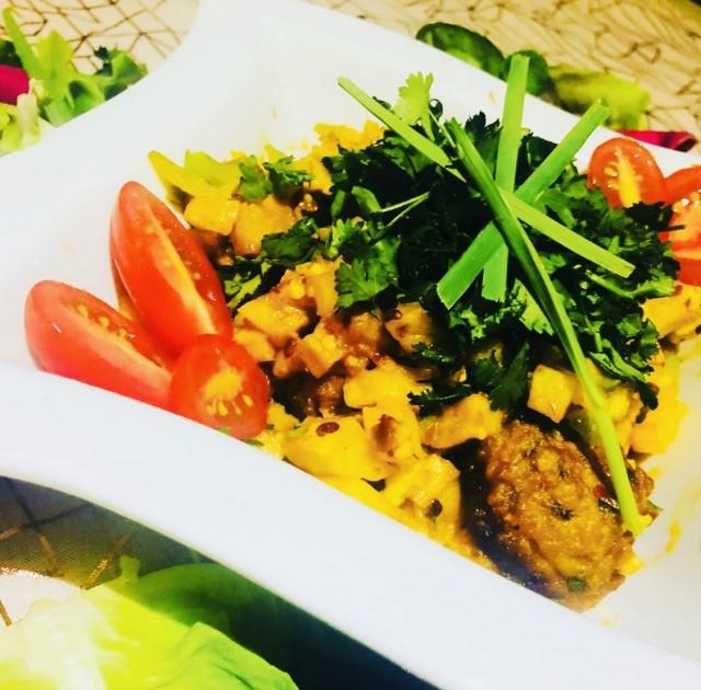Chicken Kabaab With Peri Peri Lemon Butter Sauce Casserole