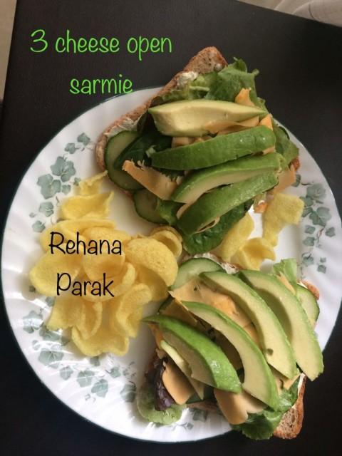 3 Cheese & Avocado Open Sarmie