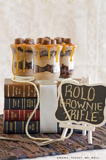 Rolo Choc Brownie Mousse