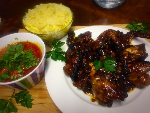 Hot Sticky Wings /  My Recipe