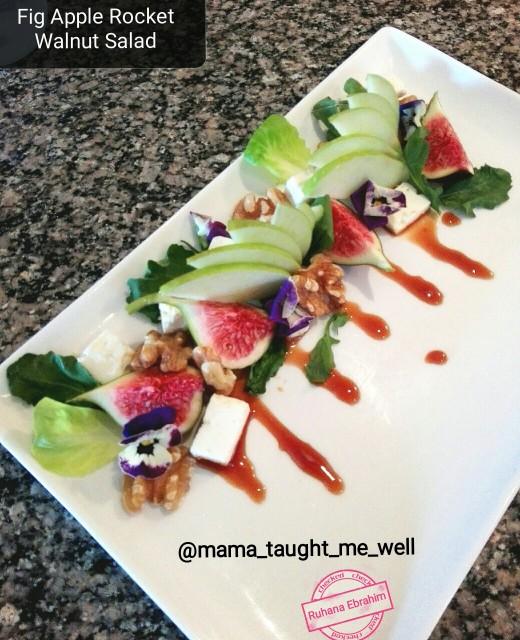 Fig Apple Walnut Salad