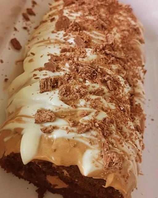 Chocolate Caramel Swiss Roll