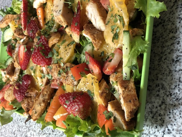 Mexican Chicken Salad With Lemon Poppy Seed Dressing