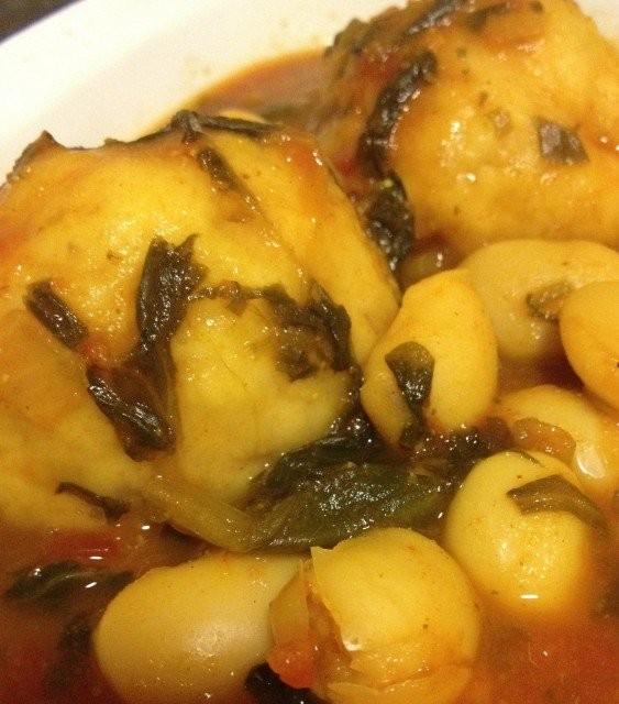Butter Beans, Spinach And Dumplings