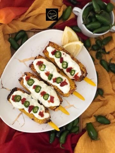 Grilled Mexican Corn (elote)