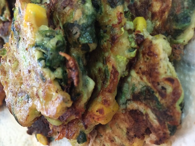 Courgette/zucchini Fritters