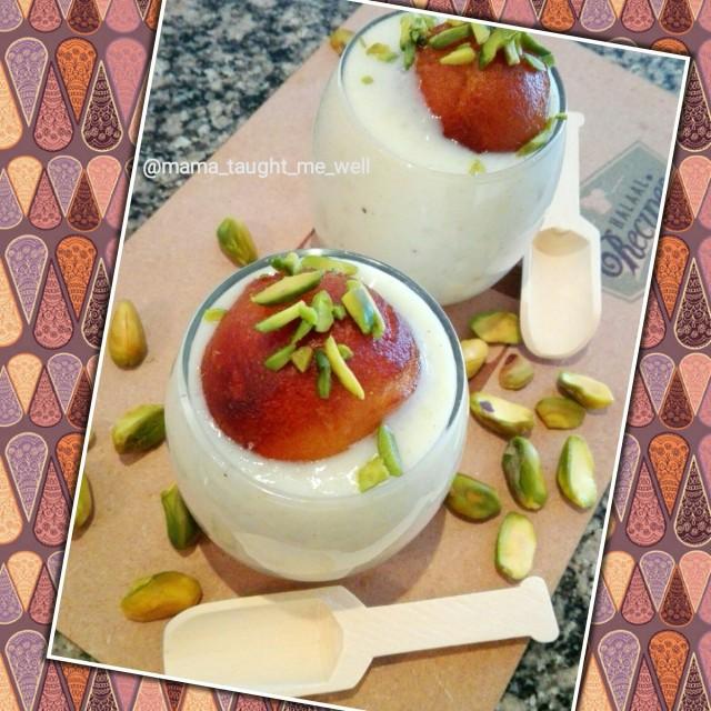 Gulab Jamun Custard