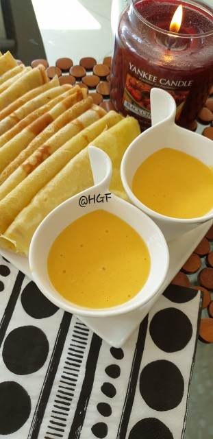 Mango Cream With Crèpes