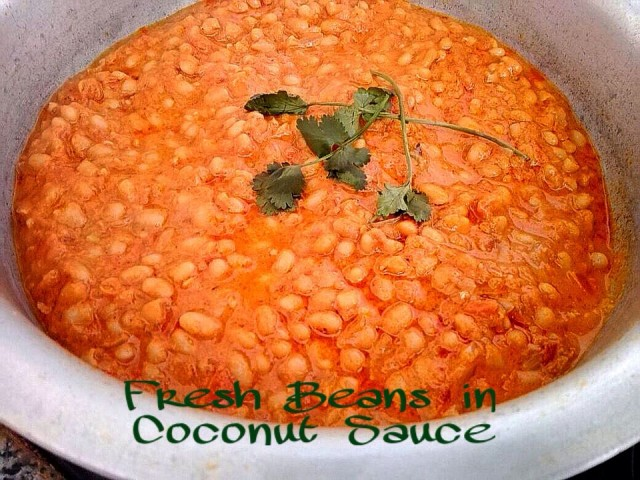 Fresh Beans In Coconut Sauce