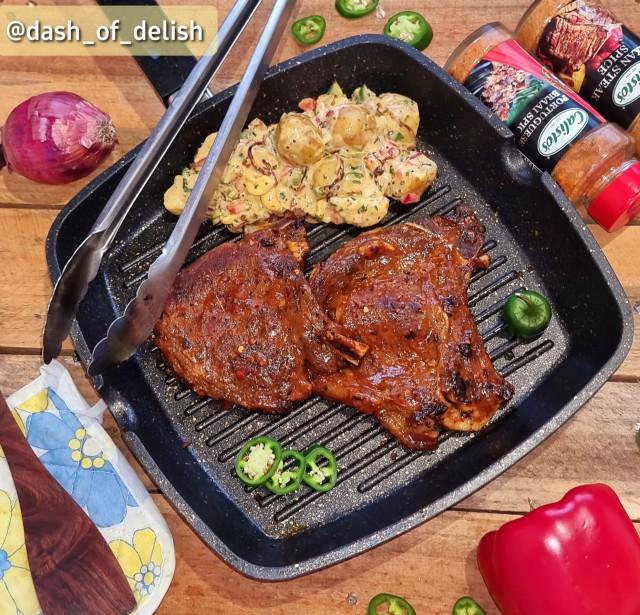 Grilled Texan T-bone Steaks