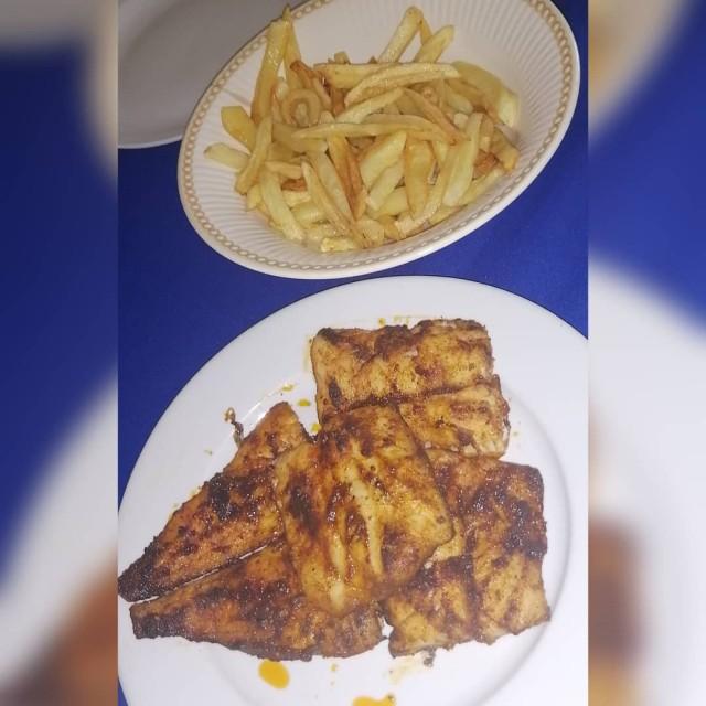 Masala Fish 🐟 And  Slap Chips 🍟