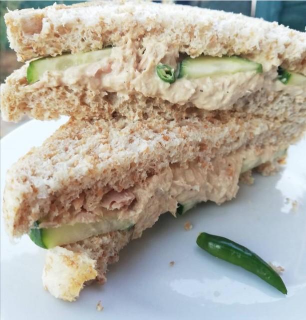 Tuna, Mayo And Chilli Sandwich