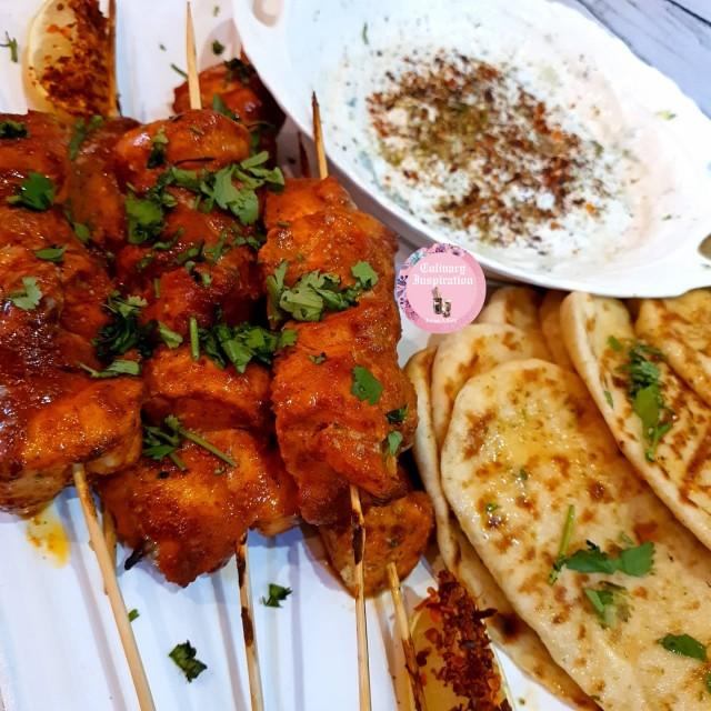 Tandoori Chicken Skewers & Yogurt Dip