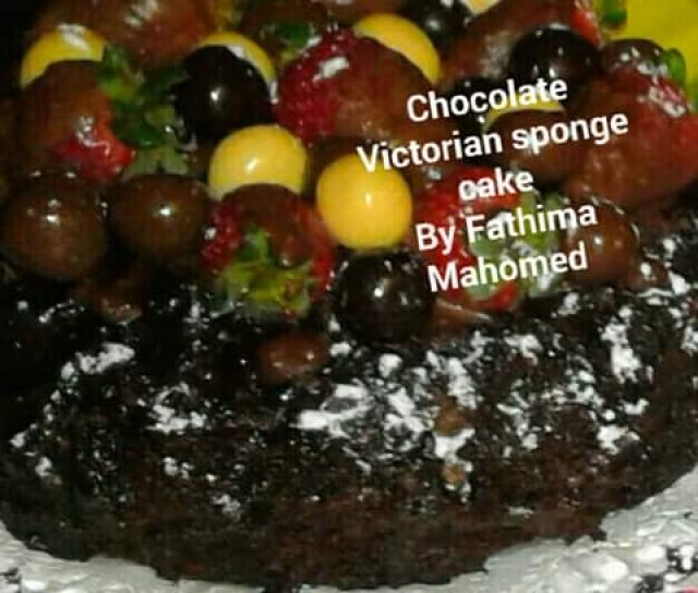 Chocolate Victorian Sponge Cake
