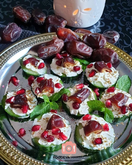 Refreshing Cucumber And Dates Canapés