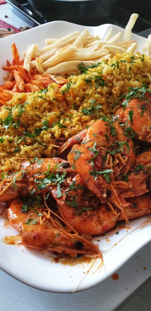 Masala Prawns With Savoury Rice