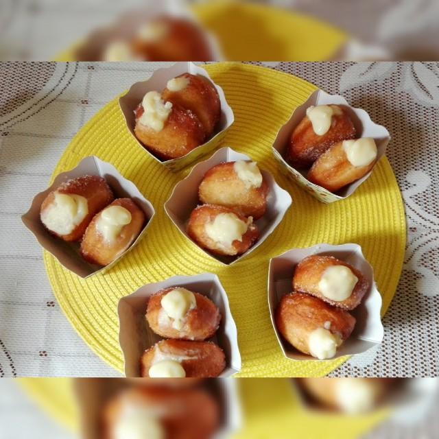 Custard Filled Doughnuts