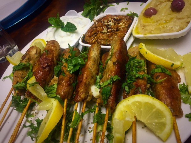 Chicken Kebabs + Dips / My Recipe