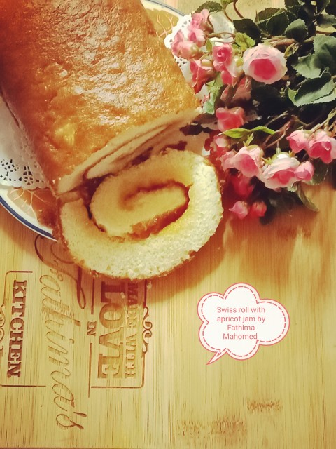 Swiss Roll Filled With Apricot Jam