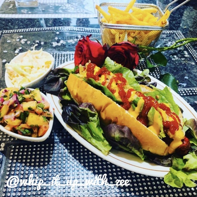 Pineapple And Jalapeño Salsa Gourmet Hotdogs With Caramelized Onions