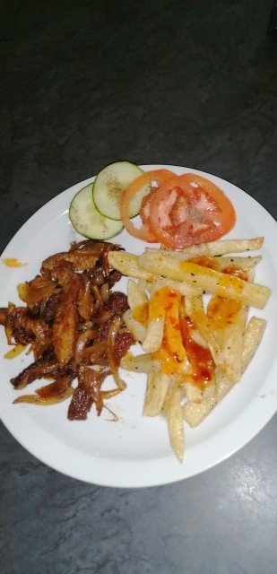 Braised Steak And Chips