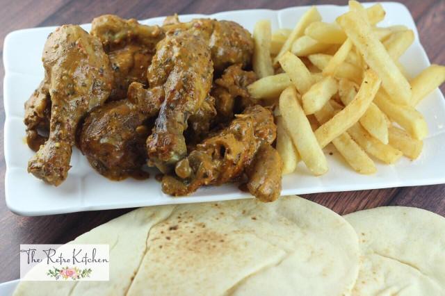 Saucy Chicken Souvlakh