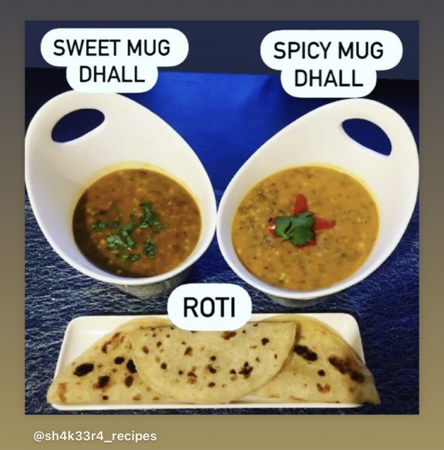 Spicy Green Moong Dhall (mug)