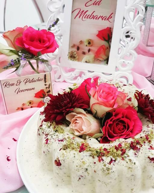 Rose And Pistachio Icecream