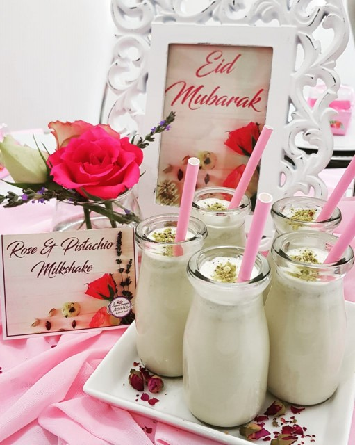 Rose And Pistachio Milkshake