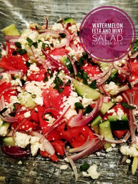 Watermelon Feta And Mint Salad