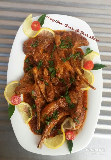 chops recipe halaal recipes Saucy Chops Grilled In Garlic Butter