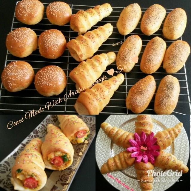 Arabic Dough Halved
