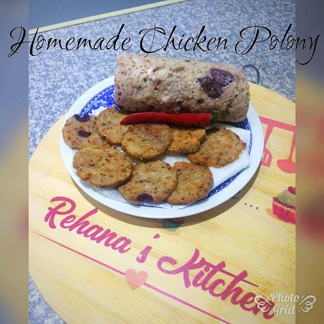 Homemade Chicken Polony