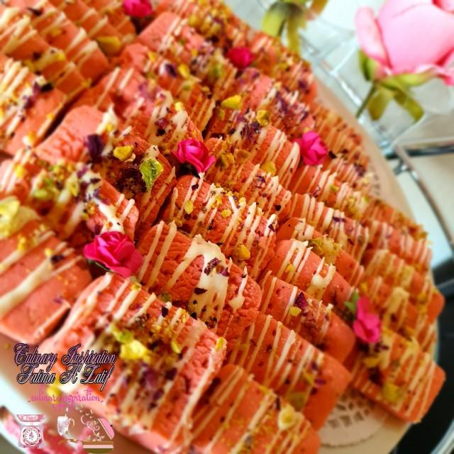 Rose Pistachio Shortbread