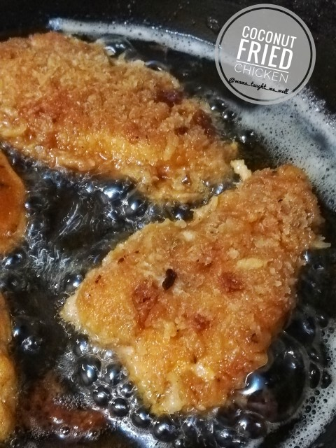 Coconut Crusted Fried Chicken