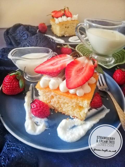 Strawberries & Cream Tres Leches Cake