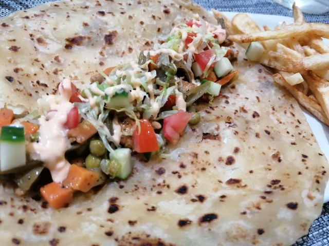 Chicken Wrap With Stir-fried Veges